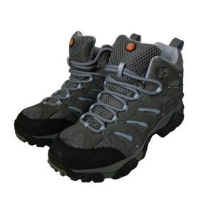 MERRELL Hiking Boots Sz 8 Gray & Periwinkle Moab 2